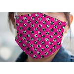 Zebra Print & Polka Dots Face Mask Cover (Personalized)