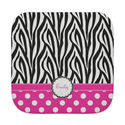 Zebra Print & Polka Dots Face Towel (Personalized)