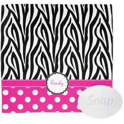 Zebra Print & Polka Dots Wash Cloth (Personalized)