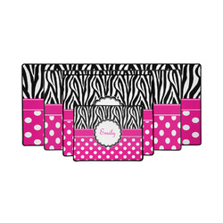 Zebra Print & Polka Dots Gaming Mouse Pad (Personalized)