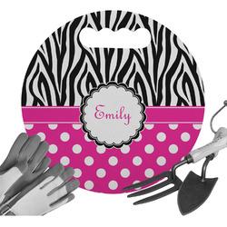 Zebra Print & Polka Dots Gardening Knee Cushion (Personalized)