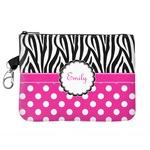 Zebra Print & Polka Dots Golf Accessories Bag (Personalized)