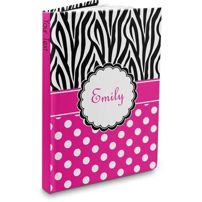 Zebra Print & Polka Dots Hardbound Journal (Personalized)