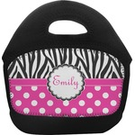 Zebra Print & Polka Dots Toddler Lunch Tote (Personalized)