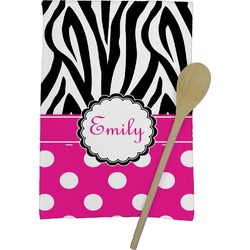 Zebra Print & Polka Dots Kitchen Towel - Full Print (Personalized)