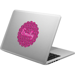 Zebra Print & Polka Dots Laptop Decal (Personalized)