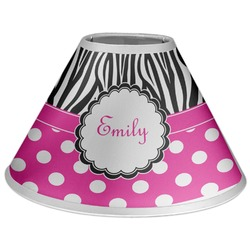 Zebra Print & Polka Dots Coolie Lamp Shade (Personalized)