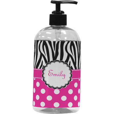 Zebra Print & Polka Dots Plastic Soap / Lotion Dispenser (Personalized)