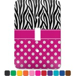 Zebra Print & Polka Dots Light Switch Cover (Single Toggle) (Personalized)