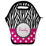 Zebra Print & Polka Dots Lunch Bag (Personalized)