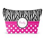 Zebra Print & Polka Dots Makeup Bags (Personalized)