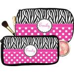 Zebra Print & Polka Dots Makeup / Cosmetic Bag (Personalized)