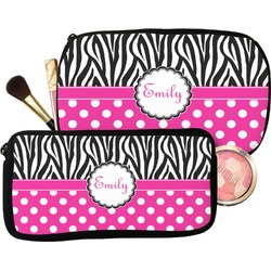 Zebra Print & Polka Dots Makeup / Cosmetic Bag (Personalized)
