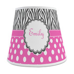 Zebra Print & Polka Dots Empire Lamp Shade (Personalized)