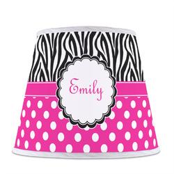 Zebra Print & Polka Dots Empire Lamp Shade (Personalized)