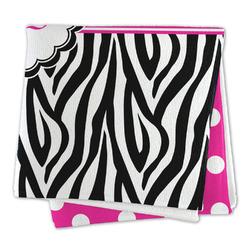 Zebra Print & Polka Dots Microfiber Dish Rag (Personalized)