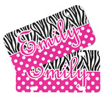 Zebra Print & Polka Dots Mini/Bicycle License Plates (Personalized)