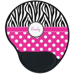 Zebra Print & Polka Dots Mouse Pad with Wrist Support