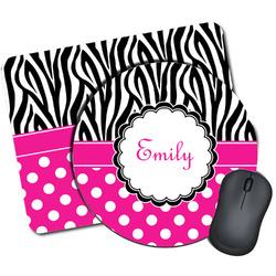 Zebra Print & Polka Dots Mouse Pads (Personalized)