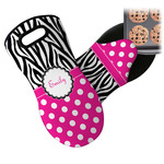 Zebra Print & Polka Dots Neoprene Oven Mitt (Personalized)