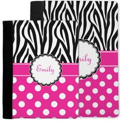 Zebra Print & Polka Dots Notebook Padfolio w/ Name or Text