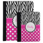 Zebra Print & Polka Dots Padfolio Clipboard (Personalized)