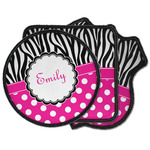 Zebra Print & Polka Dots Iron on Patches (Personalized)