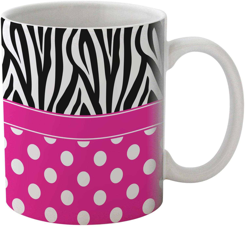 Relatively Zebra Print & Polka Dots Coffee Mug (Personalized) - YouCustomizeIt YT98