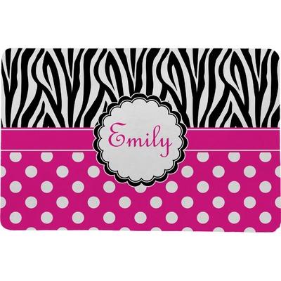 Zebra Print & Polka Dots Comfort Mat (Personalized)