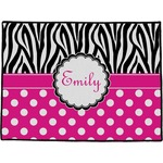 Zebra Print & Polka Dots Door Mat (Personalized)