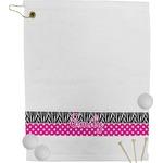 Zebra Print & Polka Dots Golf Towel (Personalized)