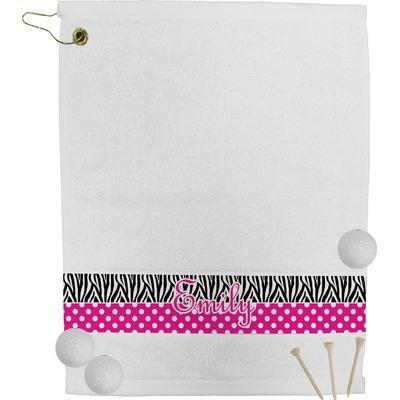 Zebra Print & Polka Dots Golf Bag Towel (Personalized)