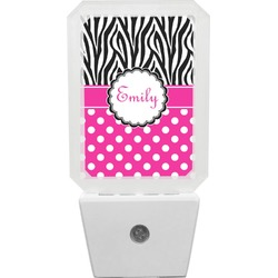Zebra Print & Polka Dots Night Light (Personalized)