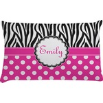 Zebra Print & Polka Dots Pillow Case - Toddler (Personalized)