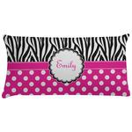 Zebra Print & Polka Dots Pillow Case - Toddler (Personalized)