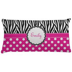 Zebra Print & Polka Dots Pillow Case (Personalized)