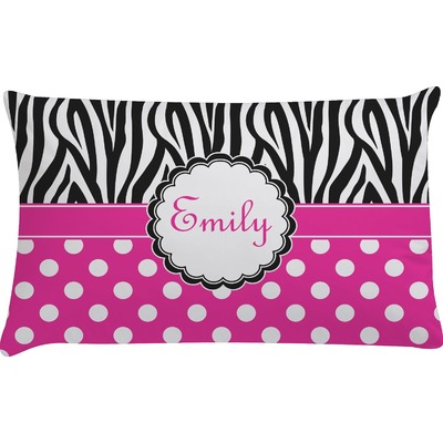 Zebra Print & Polka Dots Pillow Case (Personalized)