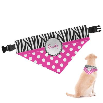 Zebra Print & Polka Dots Dog Bandana (Personalized)