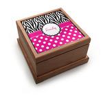 Zebra Print & Polka Dots Pet Urn w/ Name or Text