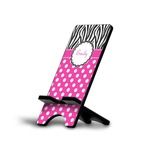 Zebra Print & Polka Dots Cell Phone Stands (Personalized)