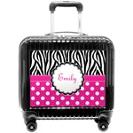 Zebra Print & Polka Dots Pilot / Flight Suitcase (Personalized)