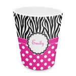 Zebra Print & Polka Dots Plastic Tumbler 6oz (Personalized)