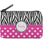 Zebra Print & Polka Dots Rectangular Coin Purse (Personalized)