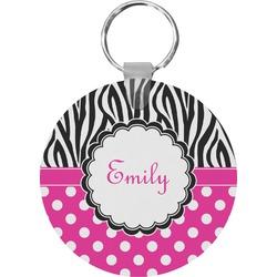 Zebra Print & Polka Dots Keychains - FRP (Personalized)