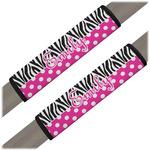 Zebra Print & Polka Dots Seat Belt Covers (Set of 2) (Personalized)
