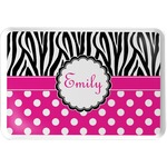 Zebra Print & Polka Dots Serving Tray (Personalized)