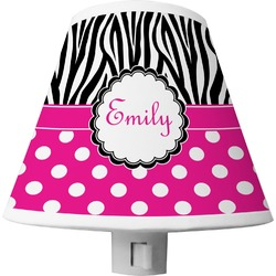 Zebra Print & Polka Dots Shade Night Light (Personalized)