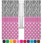 Zebra Print & Polka Dots Sheer Curtains (Personalized)