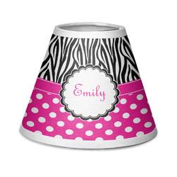 Zebra Print & Polka Dots Chandelier Lamp Shade (Personalized)