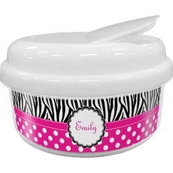Zebra Print & Polka Dots Snack Container (Personalized)